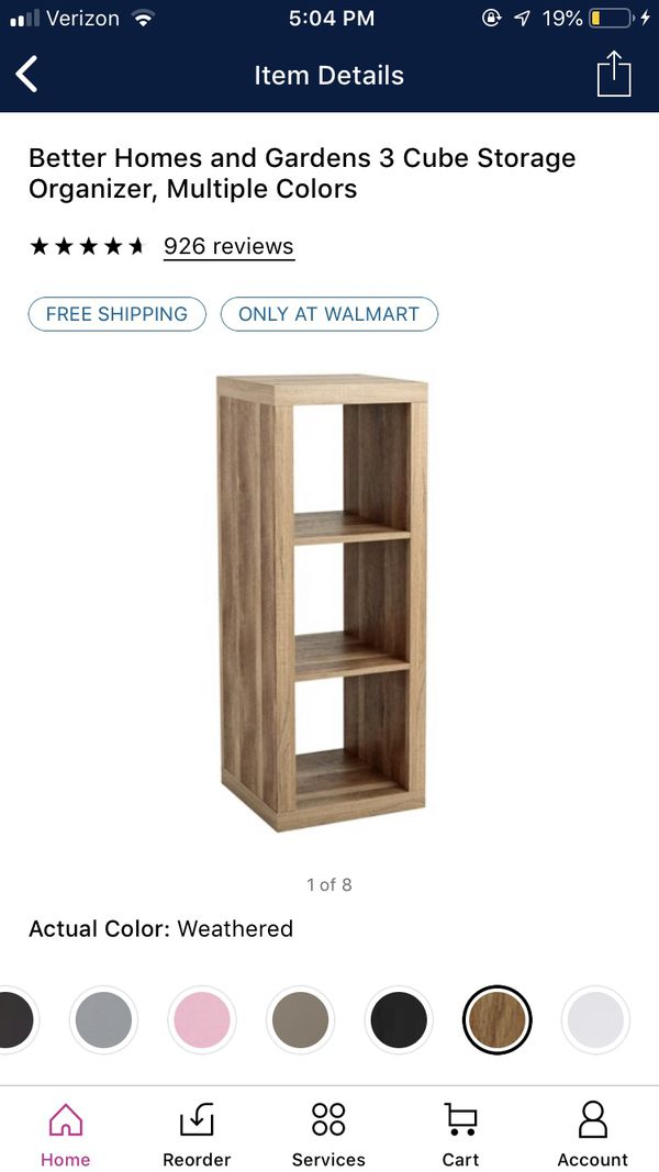Better Homes Storage Shelves and Storage Bins