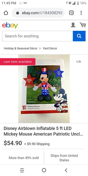 5ft inflatable Mickey mouse for Sale in Douglasville, GA