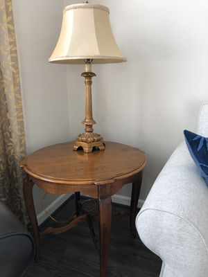 """Ethan Allen Round End Tables (2 available) in excellent condition. They are beautiful. Top is 29"""" round and table is 25"""" tall. Price is $100 each for Sale in Renton, WA"""