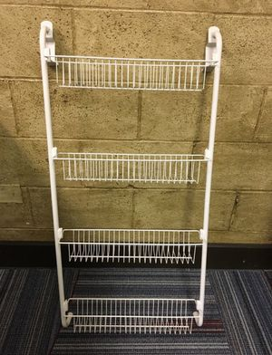 White metal organizer over the door rack for Sale in Hurst, TX