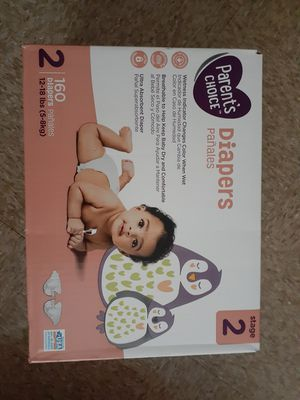 Box of Size 2 Diapers for Sale in Virginia Beach, VA