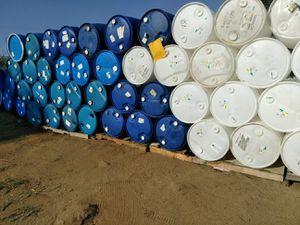 55 gallon close top barrels with caps food grade for Sale in LAKE MATHEWS, CA
