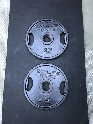 Pair of Olympic 45lb Weights Gold's Gym for Sale in Westminster, CA