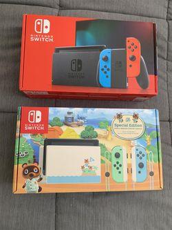 Nintendo - Switch 32GB Console - Neon Red/Neon Blue Joy-Con NEW & SPECIAL EDITION MARIO OR Animal Crossing for Sale in Miami,  FL