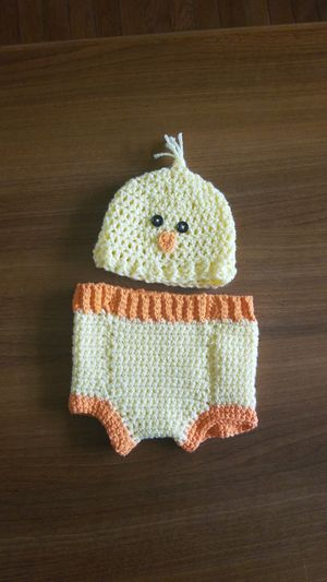 Newborn beanie and diaper cover for Sale in Woodbridge, VA