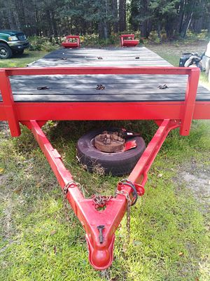 Heavy-duty hauling trailer 2500 cash Call text {contact info removed} for Sale in Manton, MI