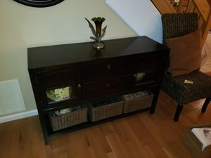 Credenza plus baskets for Sale in Ashland, MA