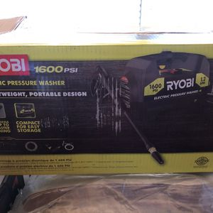BRAND NEW RYOBI 1,600 PSI 1.2 GPM Electric Pressure Washer for Sale in Phoenix, AZ