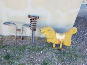 Antique vintage playground spring animals, lion and seal for Sale in Moriarty, NM