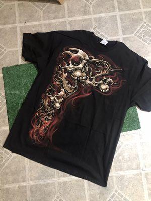 Skull/Fire T-shirt for Sale in Baldwin Park, CA