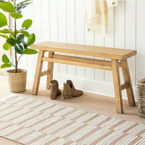 New Studio McGee Threshold Target Wooden Bench- Natural for Sale in Miami, FL