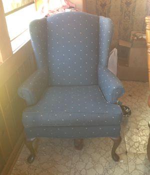 Blue wing chair for Sale in Elmira, MI
