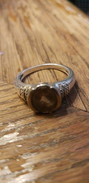 Sterling silver chocolate diamond ring for Sale in Fitzgerald, GA