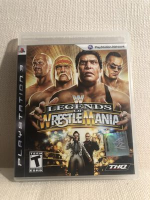 PlayStation 3 WWE Legends of WrestleMania (PS3) complete with manual for Sale in Frisco, TX