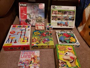 Various board games - build ups - and a 10pack puzzle box for Sale in Humble, TX