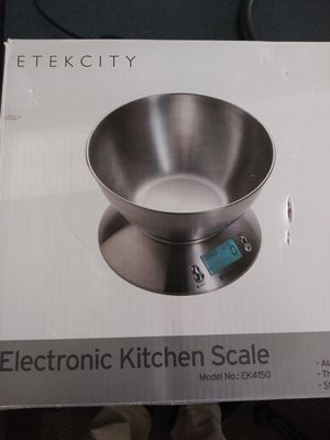 Etekcity kitchen scale model ek4150 alarm timer thermometer stainless steel New will Travel for Sale in Lakewood, CA