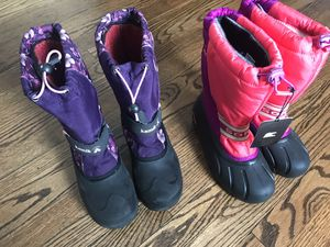 Kids boots- Kamik & Sorel Kids snow boots US 4- set of 2 or separate for Sale in Arlington Heights, IL