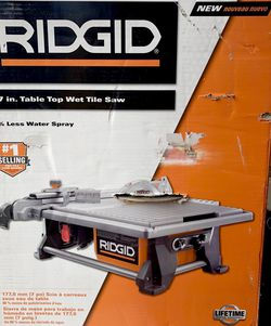 NEW 🌟 RIDGID 6.5 Amp Corded 7 in. Table Top Wet Tile Saw ** $170 for Sale in Bakersfield,  CA