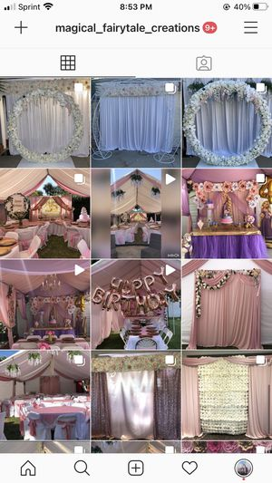 Party decorations (INSTAGRAM: magical_fairytale_creations) for Sale in Lynwood, CA
