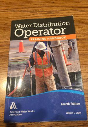 Water Distribution Operator Training Handbook for Sale in Orange, CA