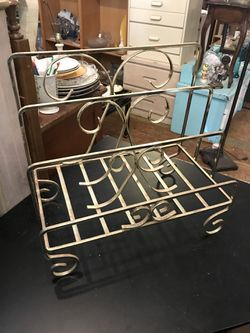 Vintage brass boho magazine rack towel holder open 11 to 4 Sunday for Sale in San Diego,  CA