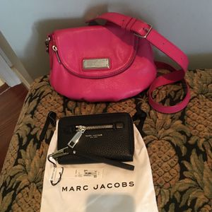 Marc Jacobs should Pink Leather Bag Like New &ph Wallet New W/tag.Price For All for Sale in Boca Raton, FL