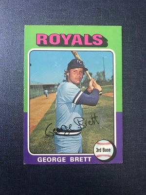 George Brett 1975 Topps Vintage baseball rookie card for Sale in Tampa, FL