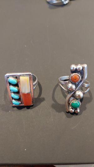 Antique Navajo silver rings for Sale in Phoenix, AZ