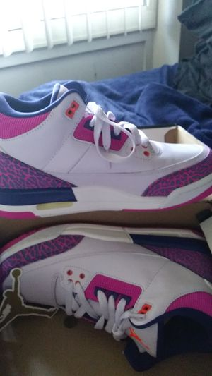 Girls Air Jordan 3 Retro BRAND NEW NEVER WORN for Sale in Washington, DC