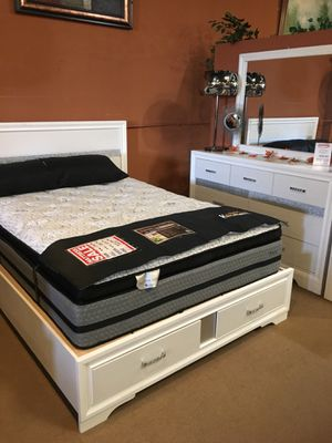 4 Pc Queen Bedroom Set ONLY $699 for Sale in Santa Fe Springs, CA