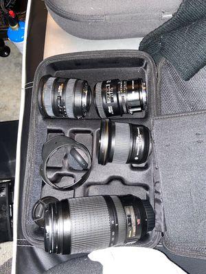 Set of assorted Nikon prime lenses (epic deal) for Sale in Atlanta, GA