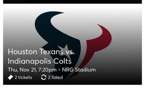 Texans vs Colts for Sale in Houston, TX