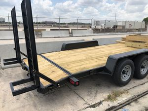 "2020 equipment trailer 82""x18', bobcat trailer, excavator trailer, forklift trailer heavy equipment trailers for Sale in Hialeah, FL"