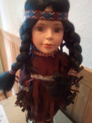 Collectible fine bisque porcelain doll for Sale in Benton, IL