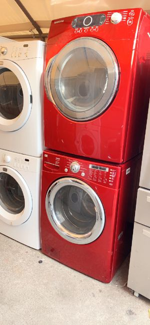 front load electric washer and dryer with 3 months warranty free delivery and installation for Sale in Oakland, CA