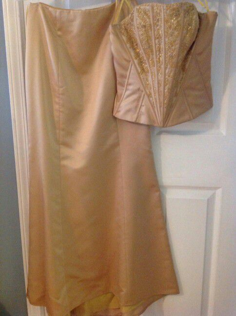 Gold gown dress