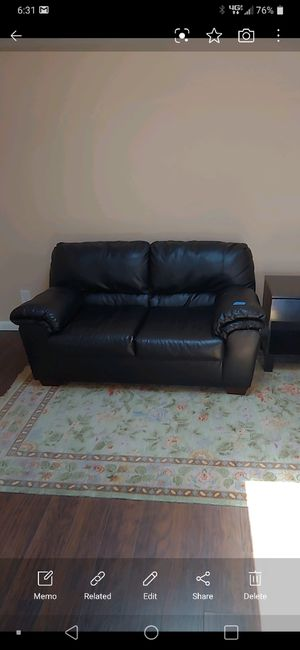 Black leather sofa couch for Sale in San Diego, CA