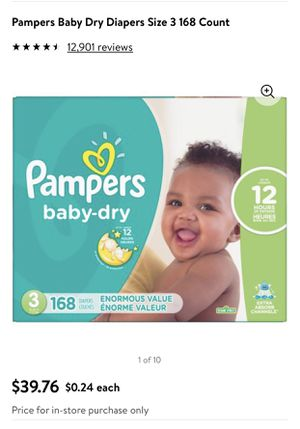 Pampers Baby Dry Size3 (168ct.) NEW in Sealed bag for Sale in Huntington Beach, CA