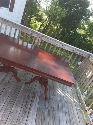 Cherry kitchen table and six chairs for Sale in Bunker Hill, WV