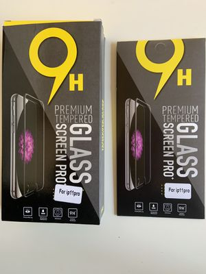 iPhone 11, 11 pro, 11 pro Max, X, Xr, Xs Max, 6,7,8 premium tempered glass screen protector 9h for Sale in Pomona, CA