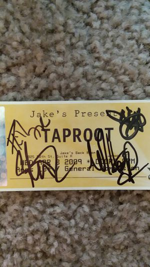 Taproot Autographed Ticket for Sale in Lubbock, TX