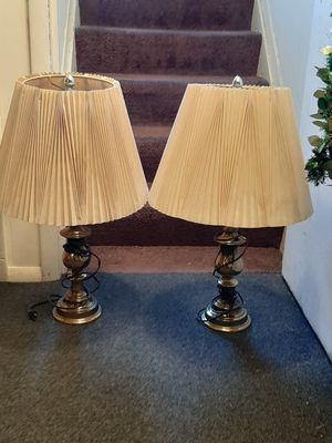 Set of lamps with shades for Sale in Severn, MD