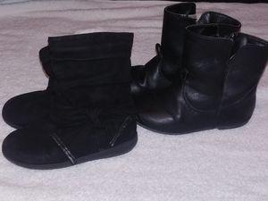 2 Black Little girl boots for Sale in Chester, VA