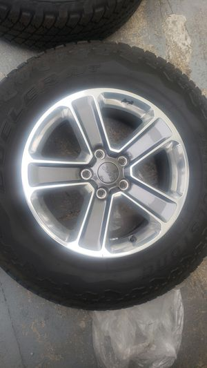 2020 Jeep wrangler sahara wheels limited wheels tires rims for Sale in Pawtucket, RI