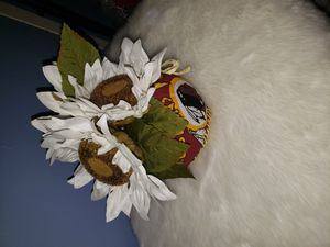 New handmade Small Redskins pumpkin flower for Sale in Alexandria, VA