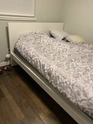 Queen size bed frame - IKEA - white - very nice for Sale in Seattle, WA