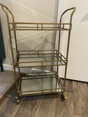 Gold mirrored bar cart for Sale in Atlanta, GA