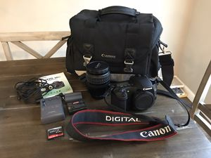 Canon EOS 30D DSLR Camera with EF 28-135mm f/3.5-5.6 IS Lens, 2 Batteries (1 Lithium), Canon Bag, 2GB Memory Card, Cables for Sale in Gilbert, AZ