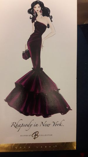 Rhapsody of New York Gols Label Collector's Barbie for Sale in Warwick, RI