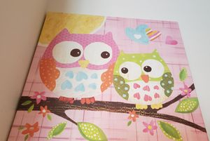 Kids room wall decor owl for Sale in Highland, CA